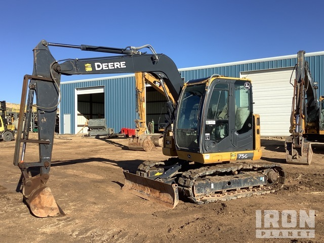 2016 John Deere 75G Track Excavator, Hydraulic Excavator