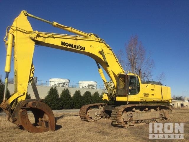 Komatsu PC750LC-6 Track Excavator, Hydraulic Excavator