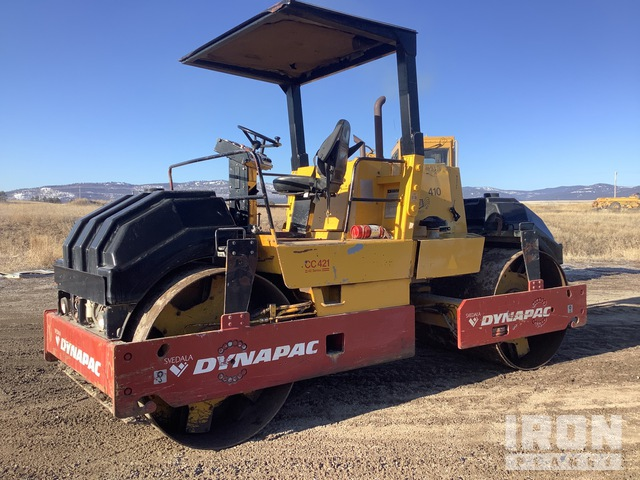 1990 Dynapac CC421 Vibratory Double Drum Roller, Roller