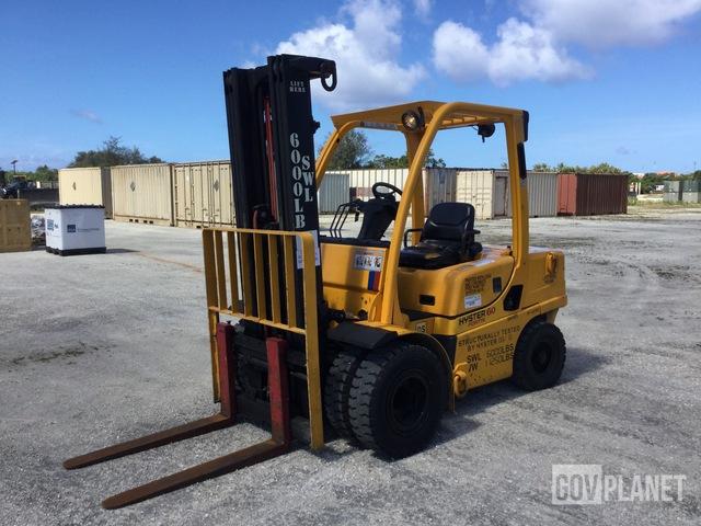 Hyster H60FTM Pneumatic Tire Forklift, Forklift