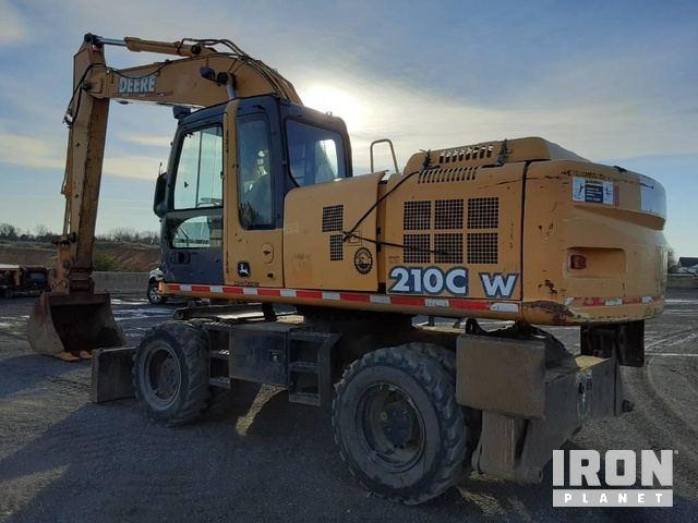 2005 John Deere 210C Wheel Excavator, Mobile Excavator