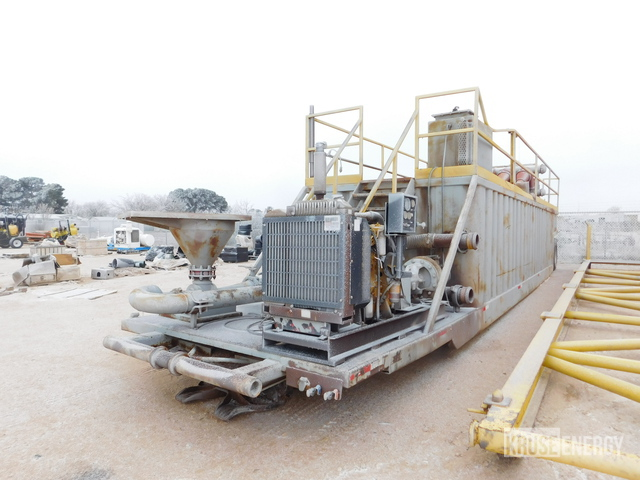 8'6W x 34'L x 5'H Crimped Wall S/A Mud Mixing System, Mud Mixing System