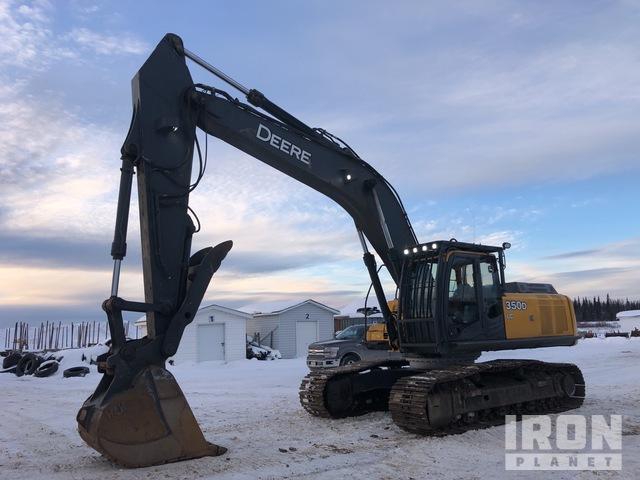 2010 John Deere 350DLC Track Excavator, Hydraulic Excavator
