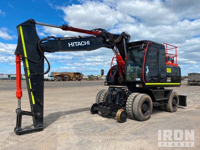 2012 Hitachi ZX170W-3 Hi Rail Wheel Excavator, Mobile Excavator