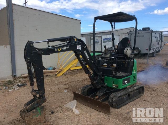 2016 (unverified) John Deere 17G Mini Excavator, Mini Excavator (1 - 4.9 Tons)