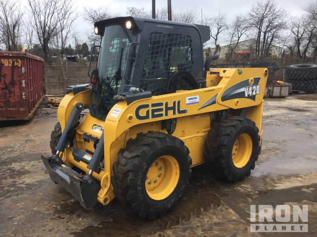 2018 (unverified) Gehl V420 Two-Speed High-Flow Skid Steer Loader, Skid Steer Loader