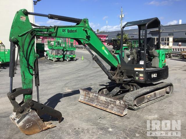 2015 (unverified) Bobcat E42 Mini Excavator, Mini Excavator (1 - 4.9 Tons)