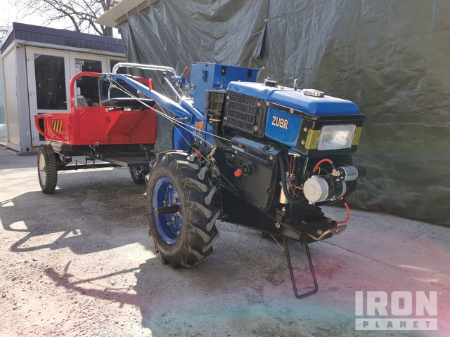 Zubr JR-Q12E Walk Behind 2WD Utility Tractor w/Attachments - Unused, Utility Tractor