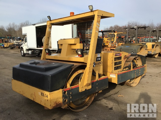 2002 Hypac C778B Vibratory Double Drum Roller, Roller