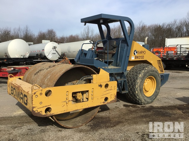 1999 Bomag BW213D-3 Vibratory Single Drum Compactor, Vibratory Padfoot Compactor