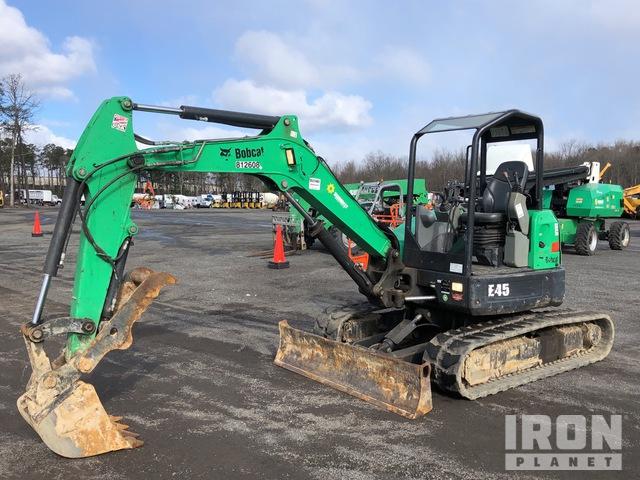 2016 Bobcat E45 Mini Excavator, Mini Excavator (1 - 4.9 Tons)