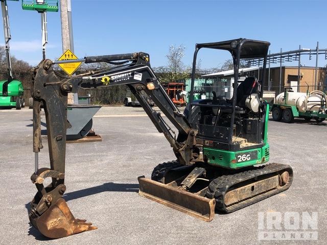 2016 John Deere 26G Mini Excavator, Mini Excavator (1 - 4.9 Tons)