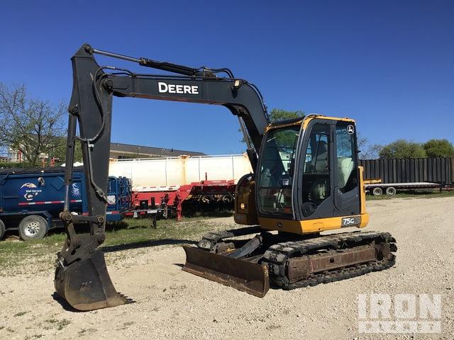 2013 (unverified) John Deere 75G Mini Excavator, Mini Excavator (1 - 4.9 Tons)