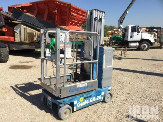2013 Genie GR-20 Vertical Mast Lift, Boom Lift