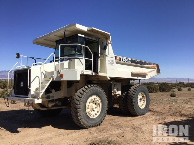 2002 Terex TR40 Off-Road End Dump Truck, Rock Truck