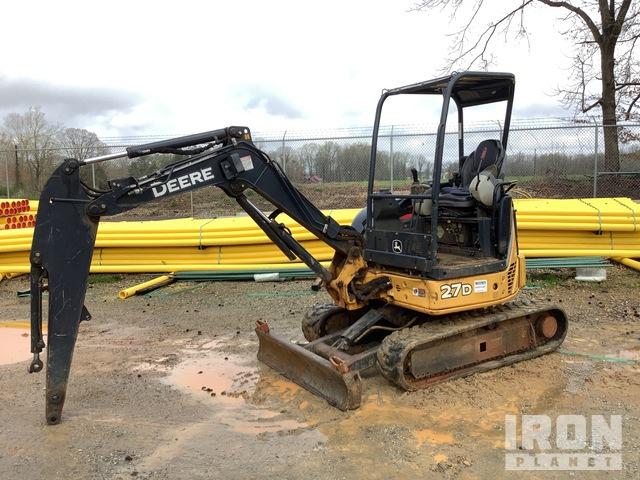 2015 John Deere 27D Mini Excavator, Mini Excavator (1 - 4.9 Tons)