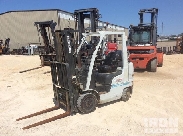 2015 Nissan CF50LP 4400 lb Cushion Tire Forklift, Forklift
