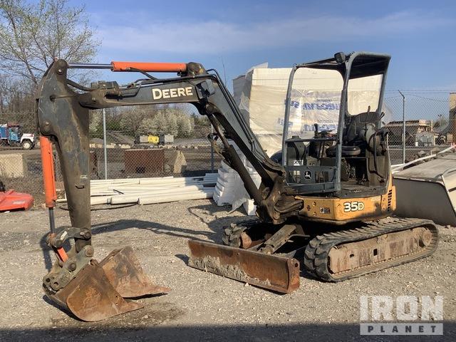 John Deere 35D Mini Excavator, Mini Excavator (1 - 4.9 Tons)