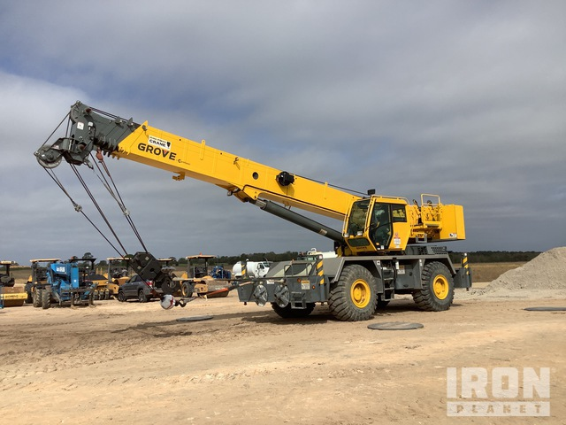 2015 (unverified) Grove RT600E 50 Ton Rough Terrain Crane, Rough Terrain Crane