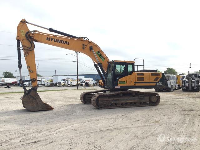 2019 Hyundai HX330L Track Excavator, Hydraulic Excavator