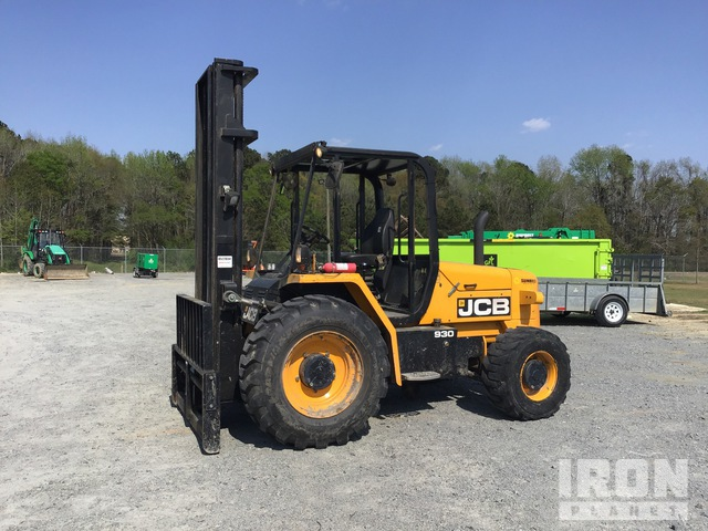 2015 (unverified) JCB 930 6000 lb 4x4 Rough Terrain Forklift, Rough Terrain Forklift
