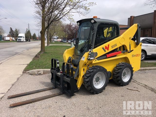2019 Wacker Neuson SW20 Two-Speed High-Flow Wheeled Skid Steer Loader, Skid Steer Loader