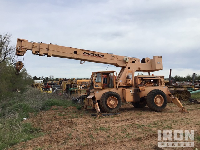 1994 Broderson RT3002A 30000 lb Rough Terrain Crane, Parts/Stationary Construction-Other