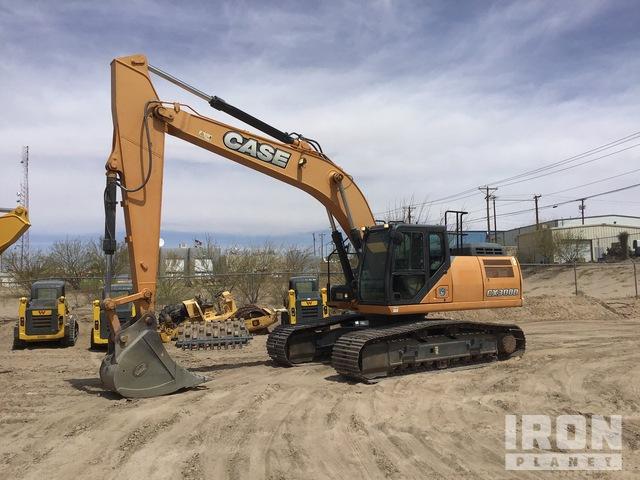 2017 (unverified) Case CX300D Track Excavator, Hydraulic Excavator