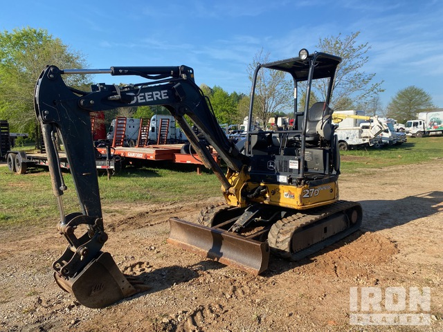 2015 (unverified) John Deere 27D Mini Excavator, Mini Excavator (1 - 4.9 Tons)