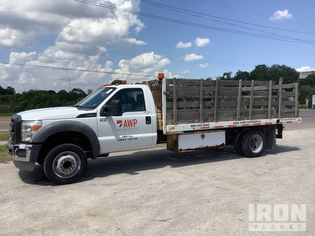 2011 Ford F-550 Super Duty 4x2 Flatbed Truck, Flatbed Truck