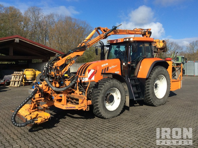 2006 Steyr 6170 CVT 4WD Tractor c/w Gilbers FK7 Double Mower, MFWD Tractor