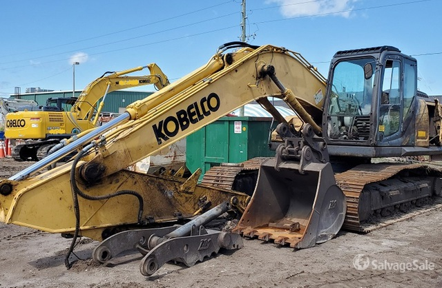 2017 (unverified) Kobelco SK210LC Track Excavator, Hydraulic Excavator