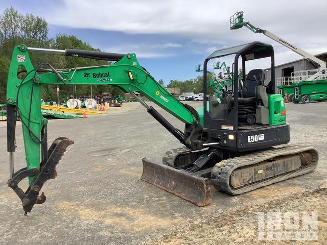 2014 Bobcat E50 Mini Excavator, Mini Excavator (1 - 4.9 Tons)