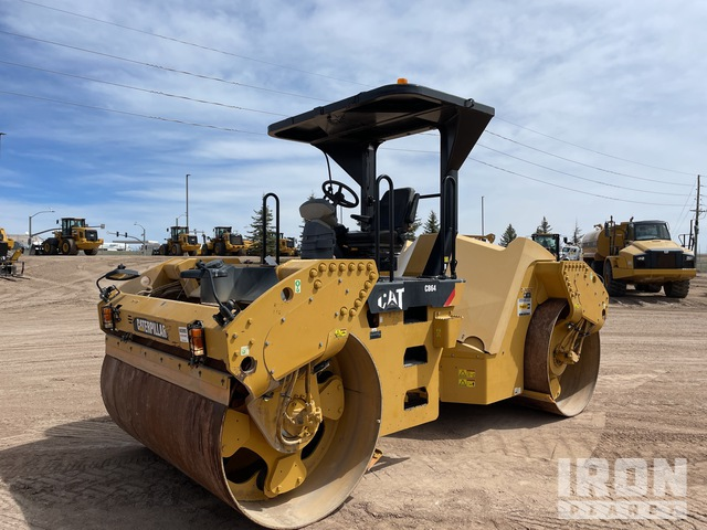 2012 Cat CB64 Double Drum Roller, Tandem Roller
