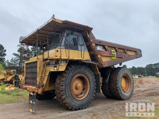 1997 Cat 777D Off-Road End Dump Truck, Rock Truck
