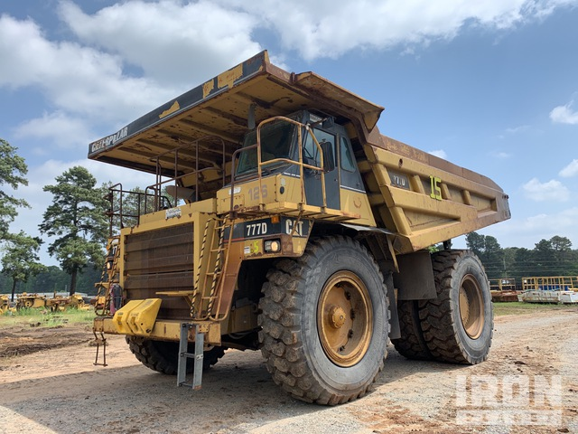 1999 Cat 777D Off-Road End Dump Truck, Rock Truck