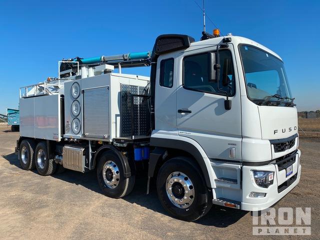 2020 Fuso FS72 Shogun 8x4x4 w/ 2019 Smart-Dig HX-6000 Hydro-Excavation Truck, Hydro Vac Truck