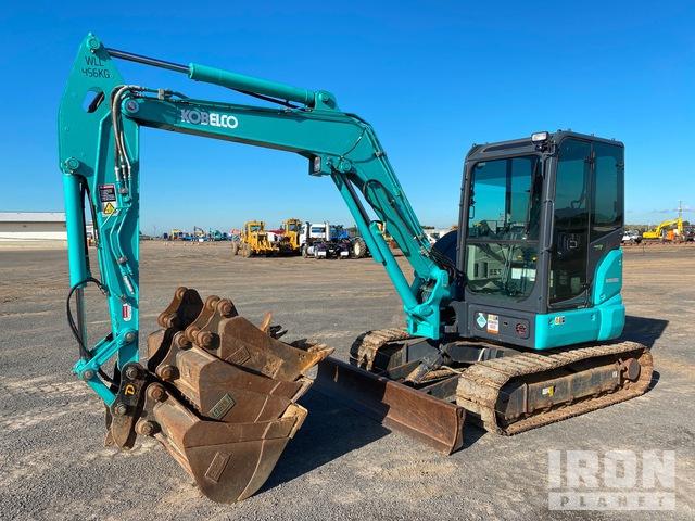 2018 (unverified) Kobelco SK55SRX-6 Mini Excavator, Mini Excavator (1 - 4.9 Tons)