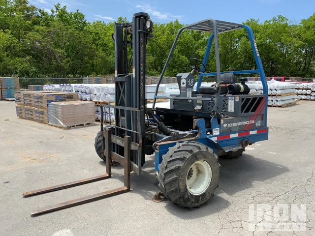 1999 (unverified) Princeton D50 2300 lb Truck Mounted Forklift, Rough Terrain Forklift