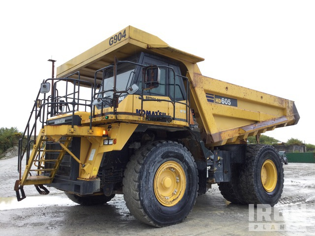 2012 Komatsu HD605-7L0 Off-Road End Dump Truck, Rock Truck