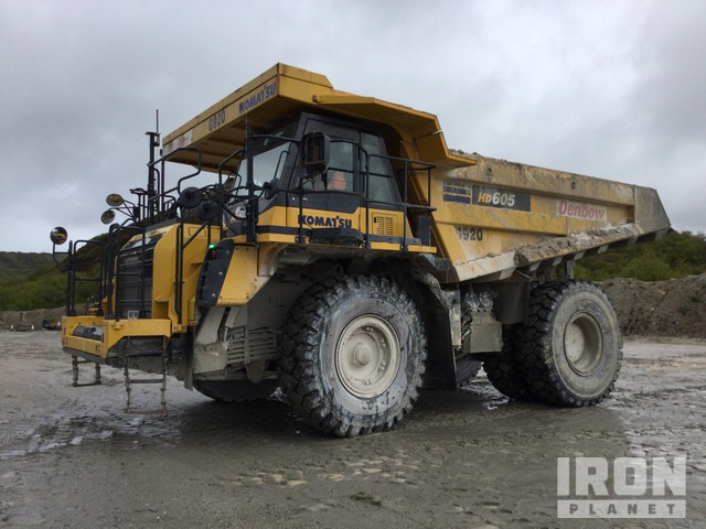 2018 Komatsu HD605-8 Off-Road End Dump Truck, Rock Truck