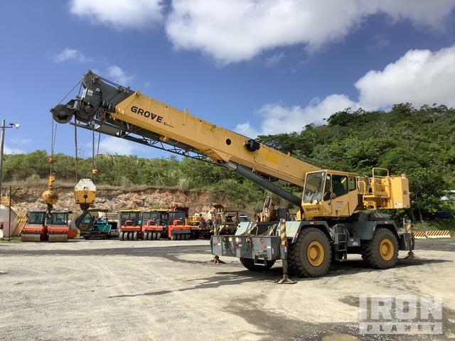 2010 Grove RT600E 80000 lb 4x4x4 Rough Terrain Crane, Rough Terrain Crane