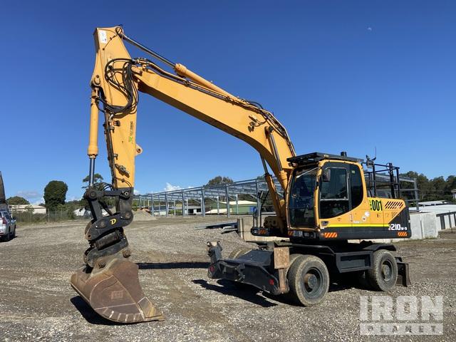 2010 Hyundai Robex 210W-9 Highway Wheeled Excavator, Mobile Excavator