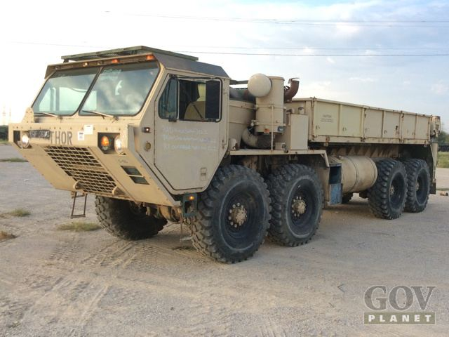 Surplus 1989 Oshkosh M985 HEMTT 8x8 Truck w/ Rear Mounted Crane in Fort Worth, Texas, United