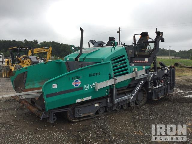 2017 Vogele Super 2000-3i Track Asphalt Paver, Asphalt Paver
