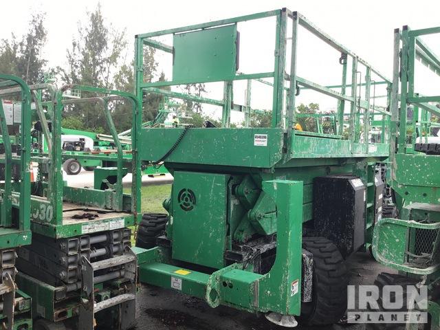 2014 (unverified) Genie GS3390RT 4WD Diesel Scissor Lift, Parts/Stationary Construction-Other