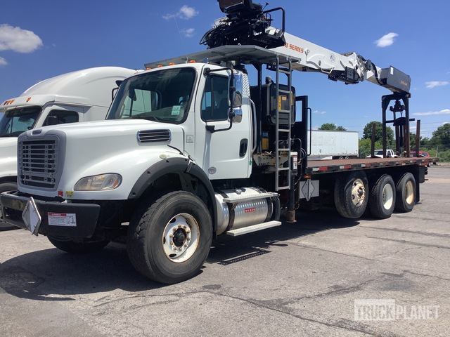2003 PM WB Articulated Boom on 2013 Freightliner M2 112 8x4 Tri/A Truck, Boom Truck