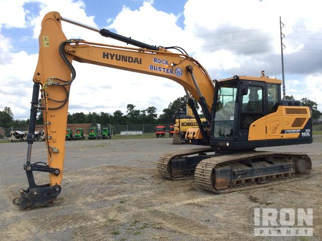 2018 Hyundai HX160L Track Excavator, Hydraulic Excavator