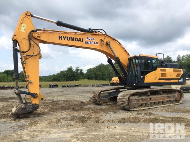 2016 Hyundai HX480L Track Excavator, Hydraulic Excavator