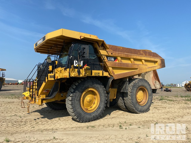 2013 Cat 777G Off-Road End Dump Truck, Rock Truck